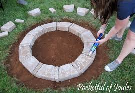 How To Make A Outdoor Fireplace by How To Build A Round Stone Fire Pit Round Designs