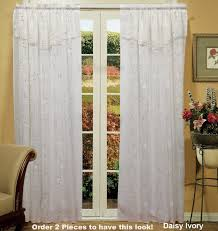 Lavender Drapery Panels Amazon Com Daisy Embroidered Floral Window Curtain Panel 50x84