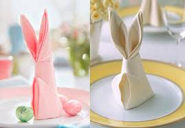 easter napkins easter bunny from napkins diy is