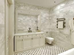 Marble Bathrooms Ideas Captivating Carrara Marble Tile White Bathroom Design Ideas Modern