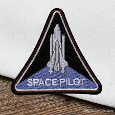 best patch space pilot embroidered patch ironing sew applique boys clothes
