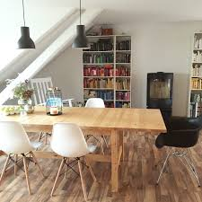 Ikea Dining Table And Chairs by Wohnzimmer Mit Ikea Norden Esstisch Eames Chairs Skantherm