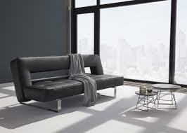 canapé luxe design canapé en simili cuir avec piètement chromé ultra design