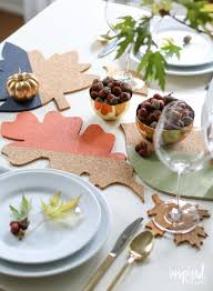 fall colorblock cork table decor inspired by charm