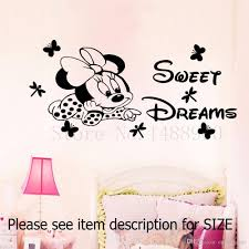 Butterfly Wall Decals For Kids Rooms by Mickey Minnie Sweet Dreams Butterfly Dragonfly Wall Stickers Home