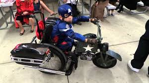 halloween costumes captain america jeremy in his wheelchair as captain america youtube
