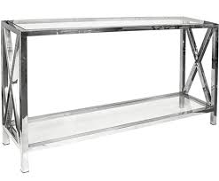 stainless steel console table stainless steel console table frame 130cm polo decor