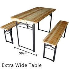 Folding Table And Bench Set Marko Outdoor Wooden Folding Beer Table Bench Set Outdoor Garden