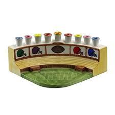 sports menorah marvelous football sports stadium ceramic chanukah