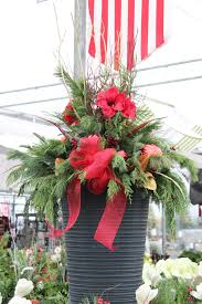 christmas planter would love to use amaryllis in an arrangement