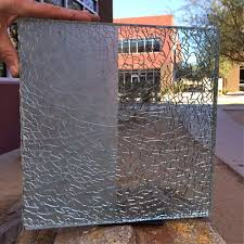 Shattered Glass Table by 01 Shattered Glass Sample Regular Clear Glass Sans Soucie Art Glass