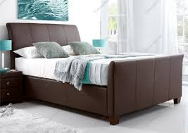 kaydian allendale leather ottoman storage bed brown kaydian