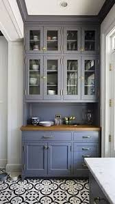 Kitchen Cabinet Tiles Benjamin Moore Wolf Gray A Blue Grey Painted Kitchen Cabinets With