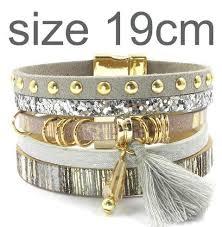 color charm bracelet images Leather bracelet 6 color charm bracelets bohemian bracelets jpg