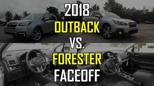 subaru outback 2018 2018 subaru outback vs 2018 subaru forester faceoff comparison