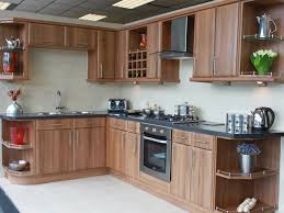 Wood Cabinet Colors Kitchen Kitchen Cabinets Modern Oven And Stove With Natural Brown