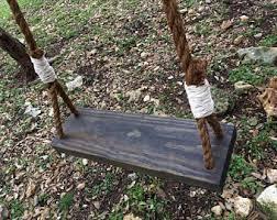 rustic swing 20 wide wood swing tree swing patio