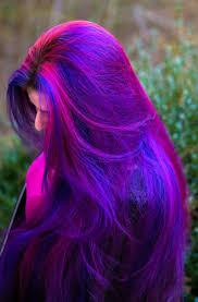 cabelo vermelho azul violeta hair purple hair makeup fashion