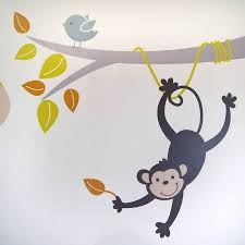 grey and yellow animals and tree wall stickers by parkins grey and yellow animals and tree wall stickers