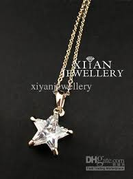 necklace pendant star images Wholesale hot sell free shiping pure crystal star pendant necklace jpg