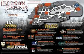scare zones halloween horror nights universal halloween horror nights 23 map disney u0026 orlando blog