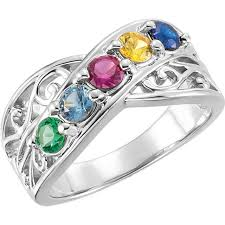 s ring 1 to 5 stones s ring