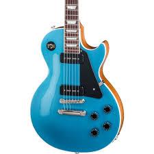 light blue gibson les paul gibson usa 2018 les paul classic electric guitar dawsons music