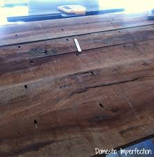 Kreg Jig Table Top Pecan Farmhouse Dining Table Domestic Imperfection