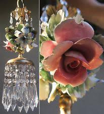 porcelain chandelier roses porcelain roses chandelier ebay