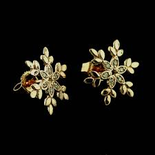designer stud earrings gold diamond snowflake stud earrings orospot