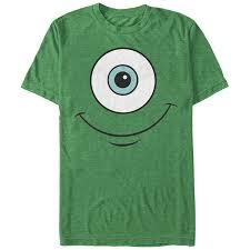 monsters mike wazowski eye smile mens graphic shirt amazon