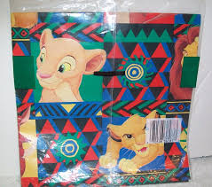 lion king wrapping paper vintage cleo disney the lion king gift wrap 2 sheets wrapping