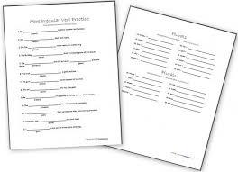5th grade verb worksheets mreichert kids worksheets