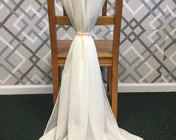 chair sashes for weddings chiffon chair sash etsy
