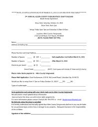 Booth Rental Agreement 8 Download 2015 Craft Bazaar Allen County Fairgrounds