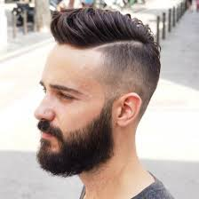 mens short parted hairstyles fade haircut