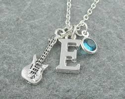 guitar necklace jewelry images Guitar necklace etsy jpg