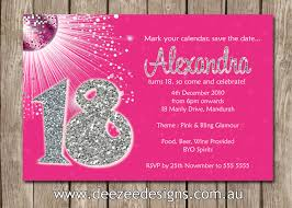 21st Birthday Invitation Cards Personalised Bling Birthday Invitations 18th 21st 30th 40th