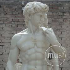 china factory art decoration life size white marble statue of