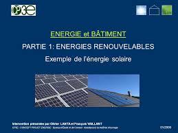 bureau d ude photovoltaique partie 1 energies renouvelables exemple de l énergie solaire ppt