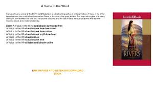 a voice in the wind audiobook free mp3