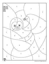 preschool color number animal coloring pages woo jr kids