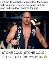 Stone Cold Meme - half way through the mayweather mcgregor fight you hear a loud