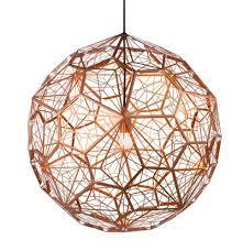 Replica Pendant Lights Replica Tom Dixon Etch Light Web Copper Pendant Light Medium