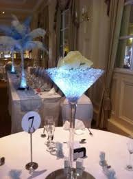 Large Martini Glass Centerpieces by Beckwith Events Decorations And Accessories