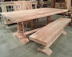 Acacia Wood Dining Table 76 Solid Acacia Wood Pedestal Trestle Dining Table White