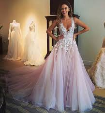 prom style wedding dress discount hayley 2016 wedding dresses white applique