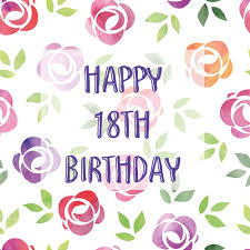 colorful floral 18th birthday card free milestones ecards 123