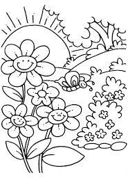 spring break printable coloring pages worksheets for kindergarten