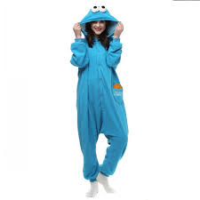 drop shipping blue cookie animal cos pajamas onesie
